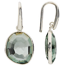 Buy John Lewis Gemstones Quartz Simple Drop Hook Earrings, Green Online at johnlewis.com