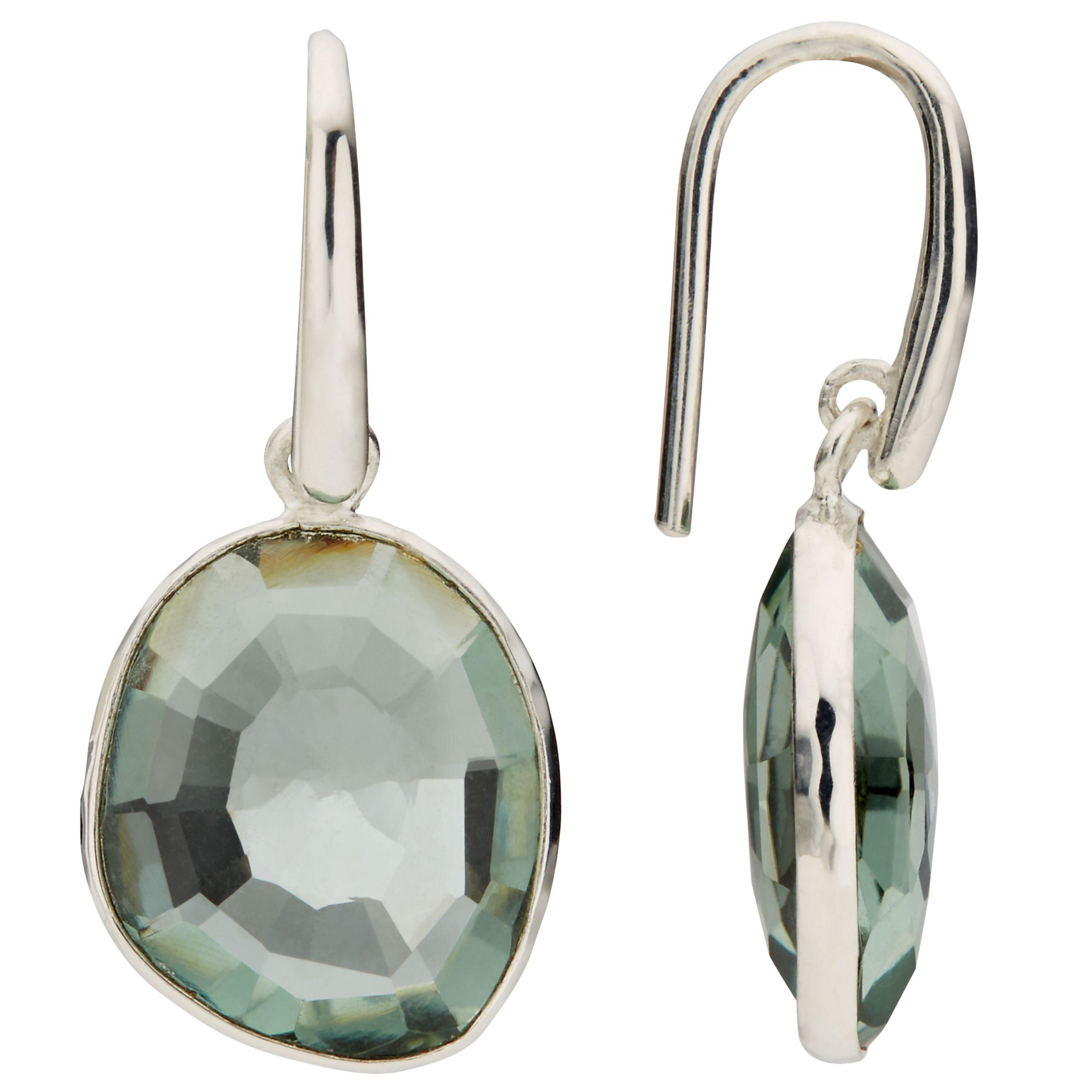 John Lewis Gemstones John Lewis Gemstones Quartz Simple Drop Hook Earrings, Green