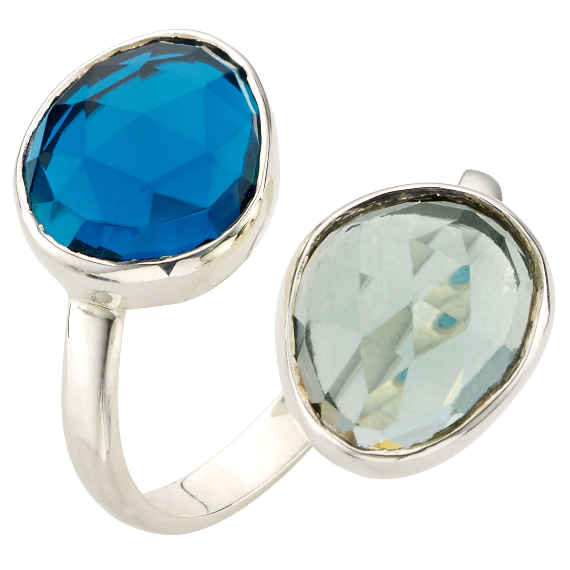 John Lewis Gemstones John Lewis Gemstones Double Semi Precious Stone Ring