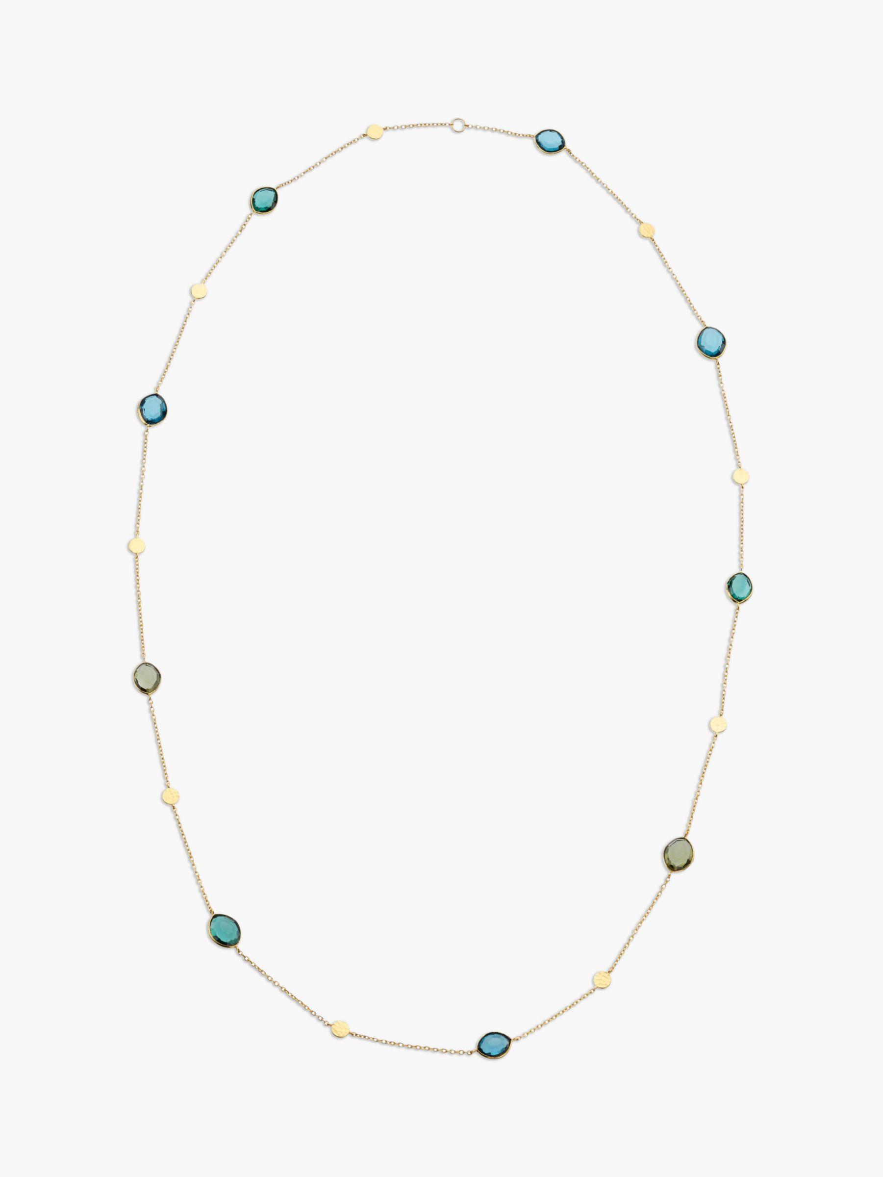 John Lewis Gemstones John Lewis Gemstones Long Multi Stone Chain Necklace, Gold/Multi