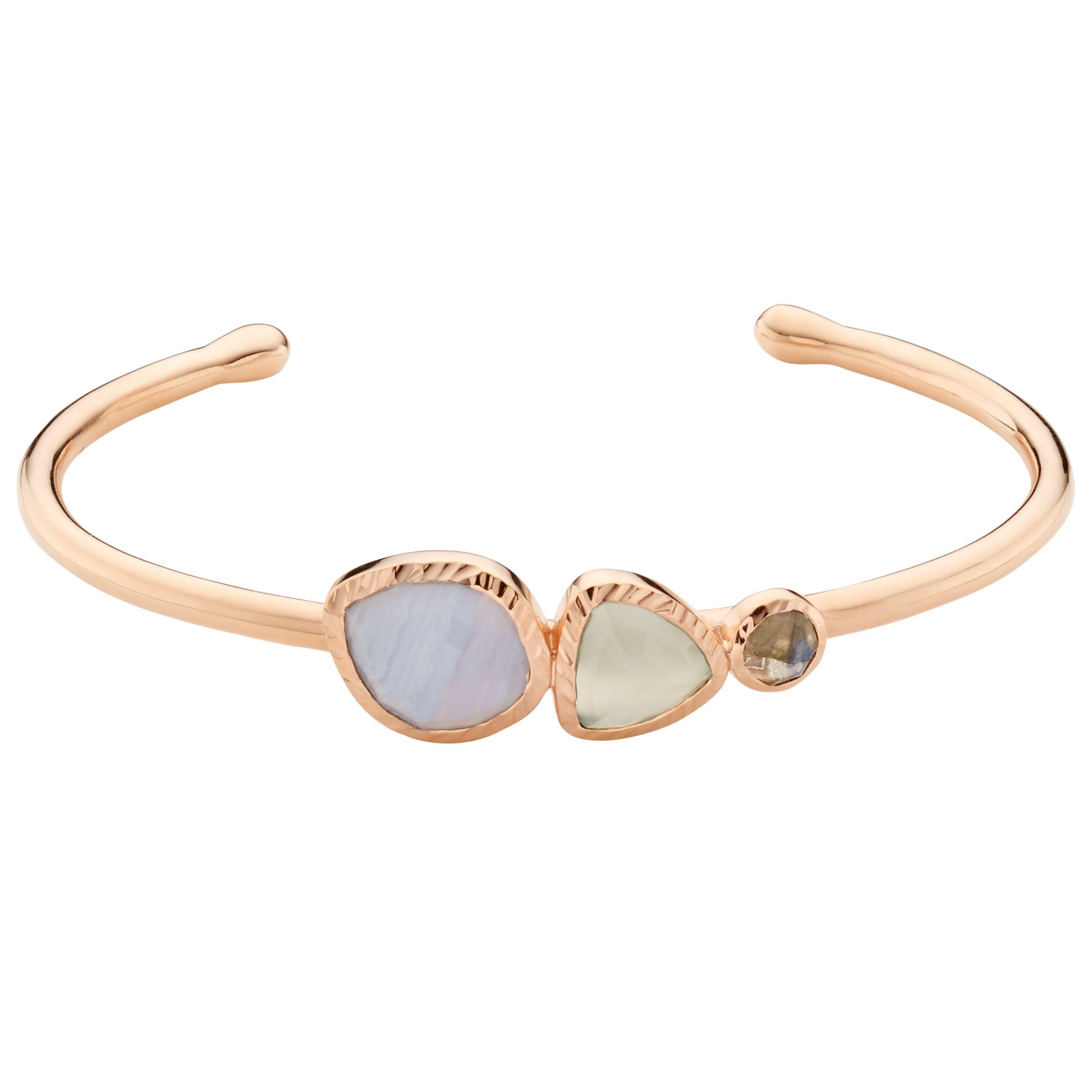 John Lewis Gemstones John Lewis Gemstones Multi Stone Open Cuff, Rose Gold/Multi