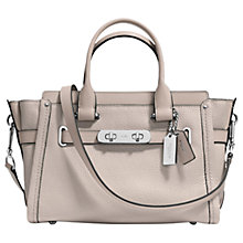 Buy Coach Swagger 27 Pebble Leather Across Body Bag, Grey Birch Online at johnlewis.com