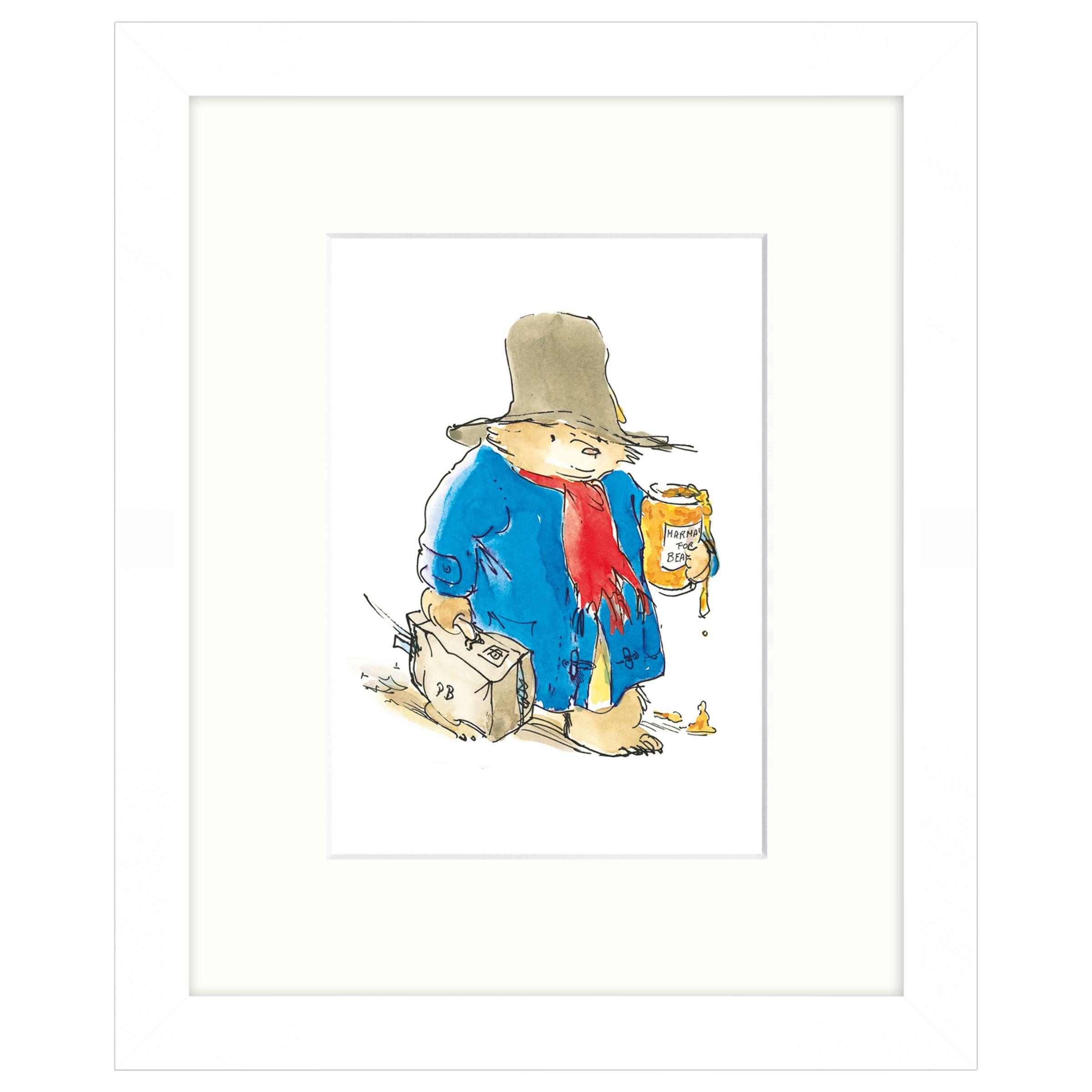 John Lewis Peggy Fortnum - Paddington with Marmalade Framed Print, 24 x 30cm