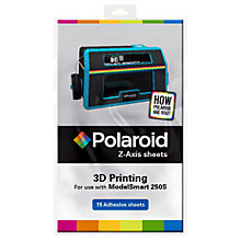 Buy Polaroid Z-Axis Sheets for ModelSmart 250S 3D Printer, Pack of 15 Online at johnlewis.com