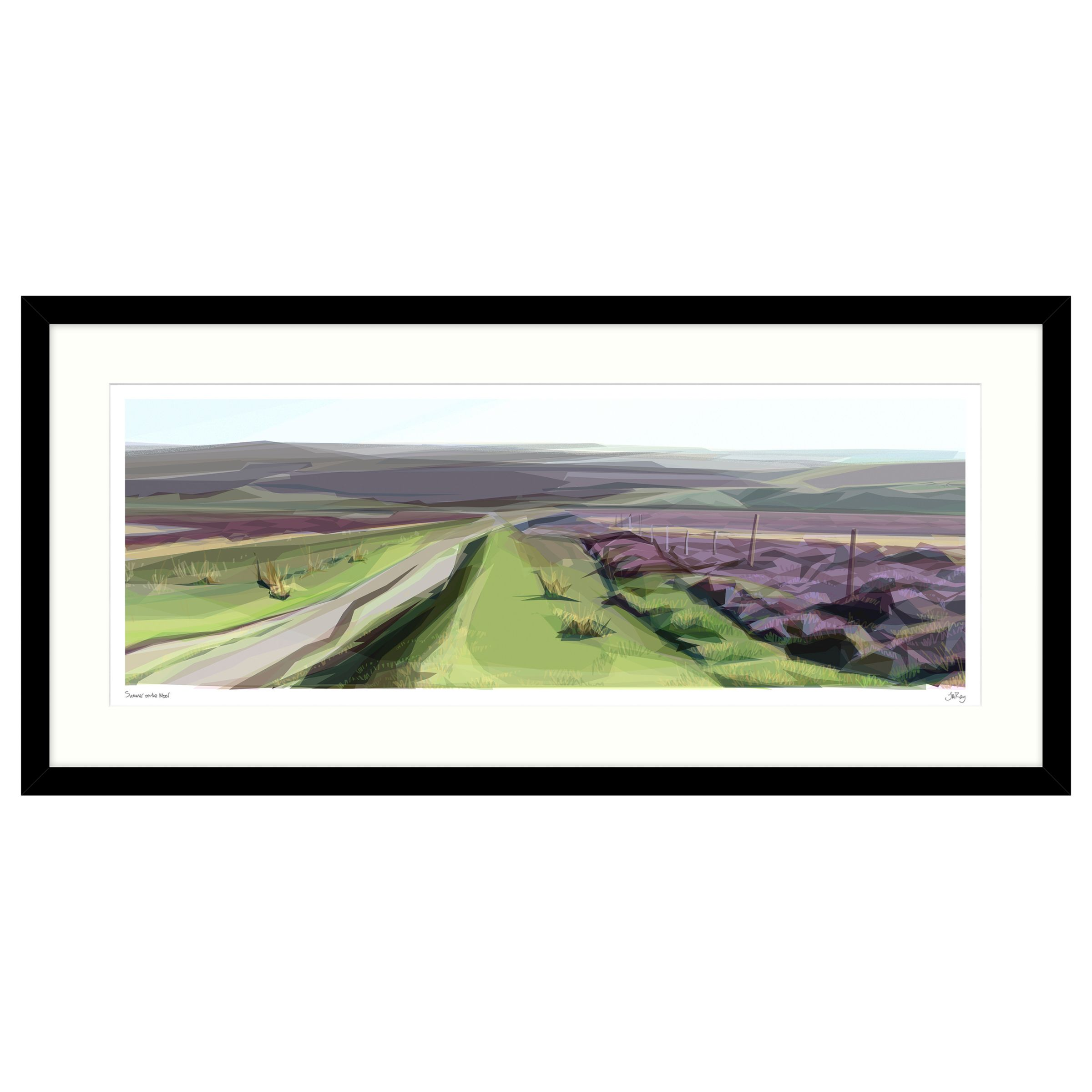 John Lewis Jill Ray - Summer On The Moor Framed Print, 104 x 49cm