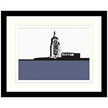 Buy Jacky Al-Samarraie - Oxo Tower Framed Print, 54 x 44cm Online at johnlewis.com
