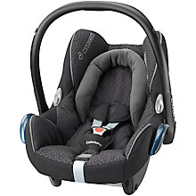 Buy Maxi-Cosi CabrioFix Group 0+ Baby Car Seat, Black Crystal Online at johnlewis.com