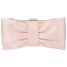 Buy Phase Eight Suzie Satin Bow Clutch Bag, Petal Online at johnlewis.com