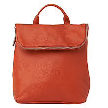Buy Whistles Mini Verity Leather Backpack, Burnt Orange Online at johnlewis.com