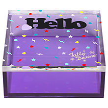 Buy Tatty Devine 'Hello' Storage Box, Small Online at johnlewis.com