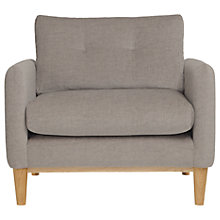 Buy Content By Terence Conran Ashwell Armchair, Oak Leg, Oak Silver Online at johnlewis.com