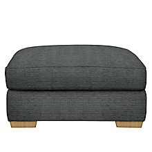 Buy John Lewis Leon Footstool, Dark Leg, Elena Charcoal Online at johnlewis.com