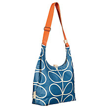 Buy Orla Kiely Giant Linear Stem Canvas Shoulder Bag, Marine Online at johnlewis.com