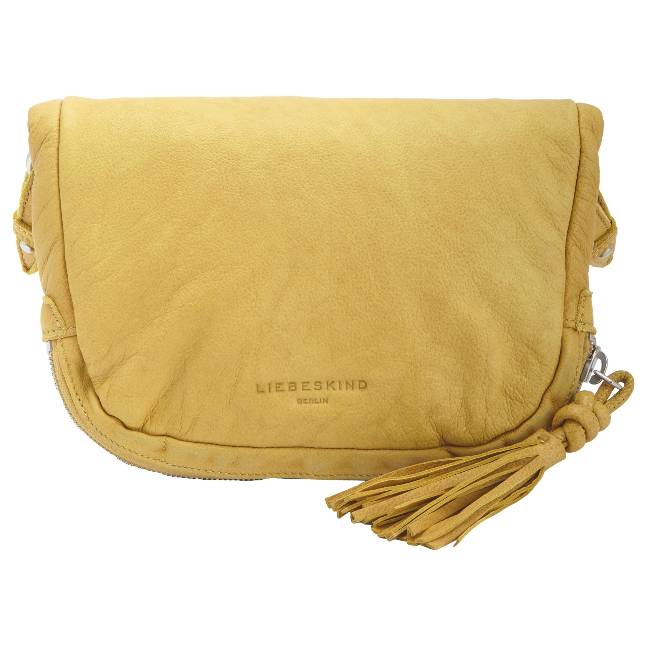 Liebeskind Liebeskind Suzuka F7 Leather Across Body Bag, Lime Green