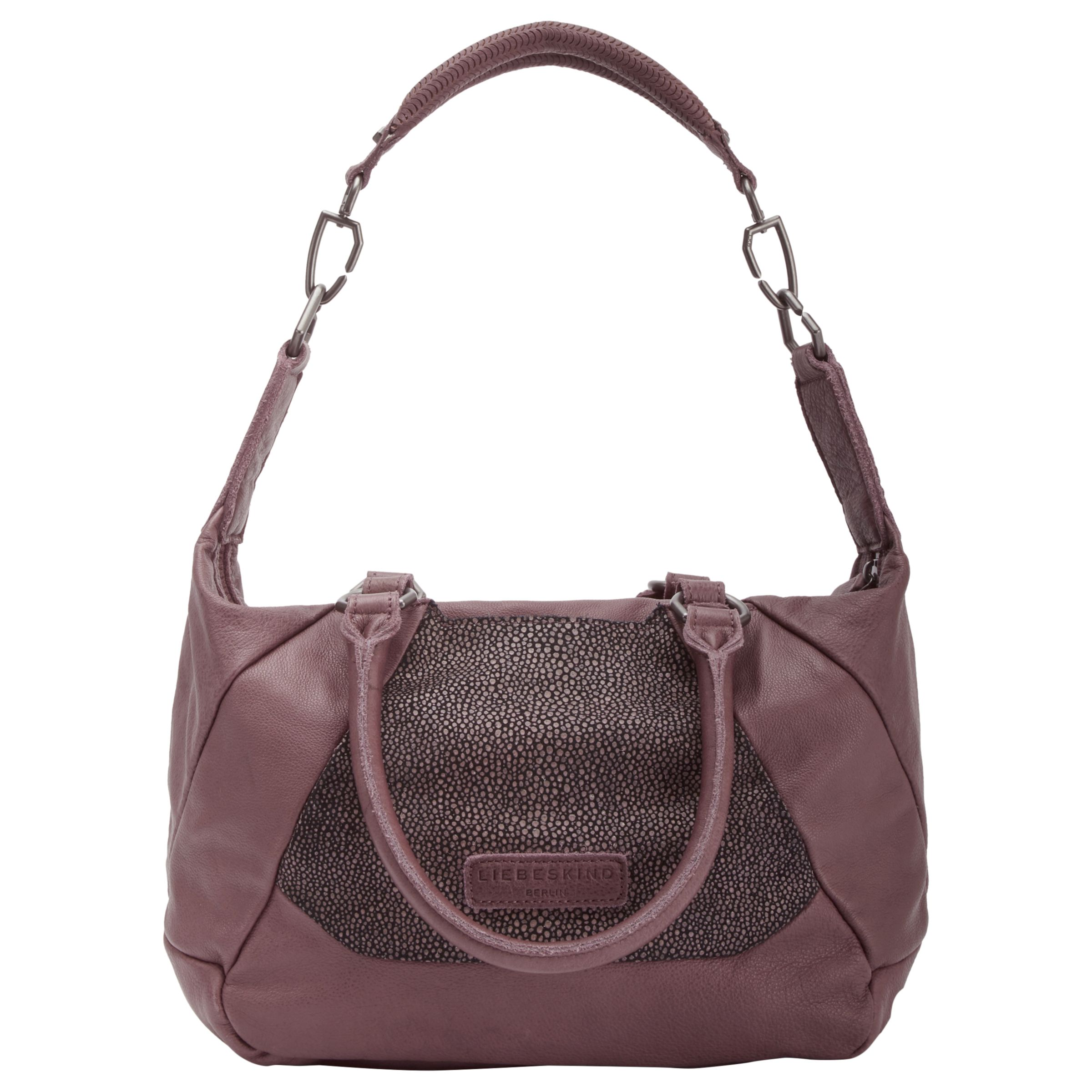 Liebeskind Liebeskind Bailundo Leather Shoulder Bag, Massai Plump