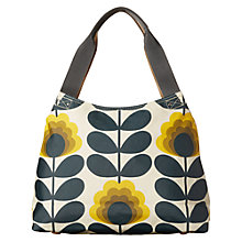 Buy Orla Kiely Summer Flower Canvas Shoulder Bag, Sunshine Online at johnlewis.com