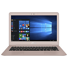 "Buy ASUS ZenBook UX330UA Laptop, Intel Core i5, 8GB RAM, 256GB SSD, 13.3"", Rose Gold Online at johnlewis.com"