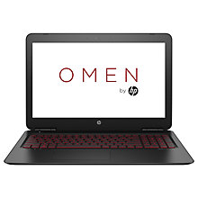 "Buy HP OMEN 15-ax205na Gaming Laptop, Intel Core i7, 8GB RAM, 1TB HDD + 128GB SSD, NVIDIA GTX 1050, 15.6"" Full HD Online at johnlewis.com"