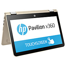 "Buy HP Pavilion x360 13-u102na Convertible Laptop, Intel Core i5, 8GB RAM, 128GB SSD, 13.3"" Full HD Touch Screen Online at johnlewis.com"