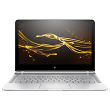 "Buy HP Spectre 13-v104na Laptop, Intel Core i5, 8GB RAM, 256GB SSD, 13.3"", Full HD, Natural Silver and Microsoft Office 365 Home Premium, 5 PCs, One Year Subscription Online at johnlewis.com"