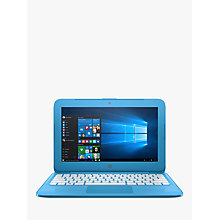 "Buy HP Stream 11-y000na Laptop, Intel Celeron, 2GB RAM, 32GB, 11.6"", Aqua Blue Online at johnlewis.com"