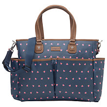 Buy Babymel Bella Origami Heart Changing Bag, Navy Online at johnlewis.com