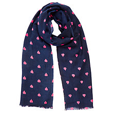 Buy Oasis Heart Boarder Scarf, Navy Online at johnlewis.com