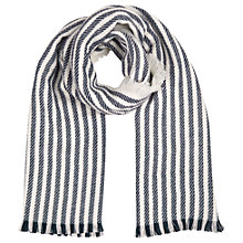 Buy Oasis Stripe Scarf, Navy Online at johnlewis.com