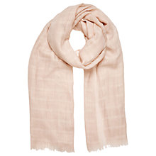 Buy Oasis Textured Scarf, Pale Pink Online at johnlewis.com