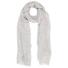 Buy Oasis Textured Scarf, Mid Grey Online at johnlewis.com
