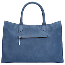 Buy Jigsaw Olive Leather Work Bag, Navy Online at johnlewis.com