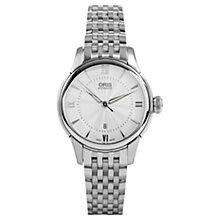 Buy Oris 01 561 7687 4071-07 8 14 77 Women's Artelier Automatic Date Bracelet Strap Watch, Silver Online at johnlewis.com