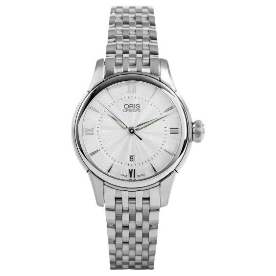 Oris Oris 01 561 7687 4071-07 8 14 77 Women's Artelier Automatic Date Bracelet Strap Watch, Silver