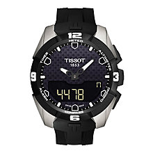 Buy Tissot T0914204705100 Men's T-Touch Expert Solar Rubber Strap Watch, Black Online at johnlewis.com