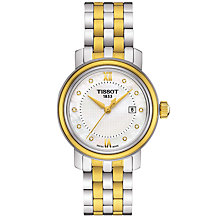 Buy Tissot T0970102211600 Women's Bridgeport Date Two Tone Bracelet Strap Watch, Silver/Gold Online at johnlewis.com