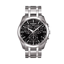 Buy Tissot T0356171105100 Men's Couturier Chronograph Date Bracelet Strap Watch, Silver/Black Online at johnlewis.com