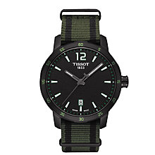 Buy Tissot T0954103705700 Men's Quickster Quartz Nato Fabric Strap Watch, Black Online at johnlewis.com