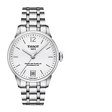 Buy Tissot T0992071103700 Women's Chemin des Tourelles Powermatic 80 Automatic Date Bracelet Strap Watch, Silver Online at johnlewis.com