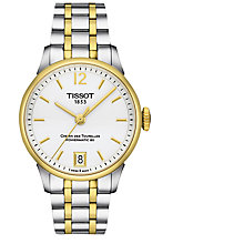 Buy Tissot T0992072203700 Women's Chemin Des Tourelles Powermatic 80 Automatic Date Two Tone Bracelet Strap Watch, Silver/Gold Online at johnlewis.com