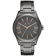 Buy Armani Exchange AX2330 Men's Bracelet Strap Watch, Gunmetal Online at johnlewis.com