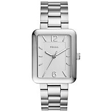 Buy Fossil ES4157 Women's Atwater Bracelet Strap Watch, Silver Online at johnlewis.com