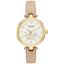 Buy kate spade new york KSW1220 Women's Holland Fashionably Late Leather Strap Watch, Nude/White Online at johnlewis.com