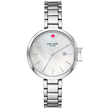Buy kate spade new york KSW1267 Women's Park Row Date Bracelet Strap Watch, Silver/White Mother of Pearl Online at johnlewis.com