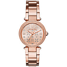 Buy Michael Kors Women's Mini Parker Crystal Bracelet Strap Watch Online at johnlewis.com