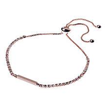 Buy Adele Marie Crystal Bar Adjustable Bracelet Online at johnlewis.com