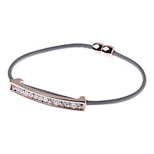 Buy Adele Marie Pave Set Magnetic Catch Leather Bracelet Online at johnlewis.com