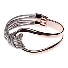 Buy Adele Marie Shiney Multi Strap Leather Bracelet, Rose Gold/Grey Online at johnlewis.com