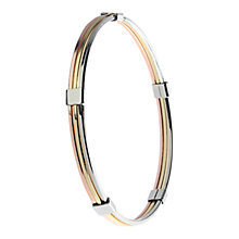 Buy Adele Marie 3 Tone Bangle, Multi Online at johnlewis.com