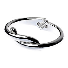 Buy Adele Marie Cross Over Hinged Bracelet, Silver Online at johnlewis.com