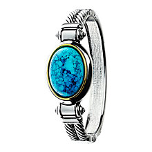 Buy Adele Marie Oval Turquoise Hinged Bangle, Silver/Blue Online at johnlewis.com